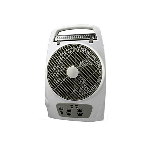 8'' Rechargable Table Fan With Lamp & USB Multi-Functional