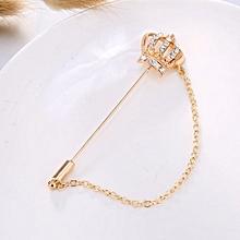 fae7ec0d3b0 Crown Brooch Pins Breast Pin Fashion Pearl Royal Wedding Party Wedding  Crystal Pins