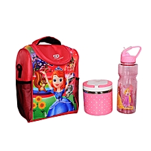 bb7dd9d5100 Back To School(Princess Sofia Lunch Bag+Food Flask  amp Water Bottle)