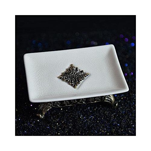 Ceramic Soap Box Portable Luxury Double Boxes Bathroom Dish Plate