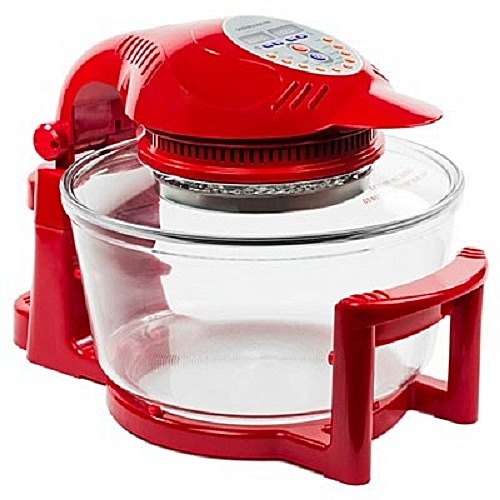 Andrew James Hinged Digital Halogen Oven - Red