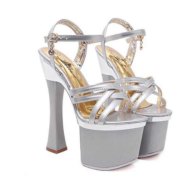 ae21b110f Women Nightclub Platform Ultra Thin High Heels Crystal Catwalk Sandals Shoes
