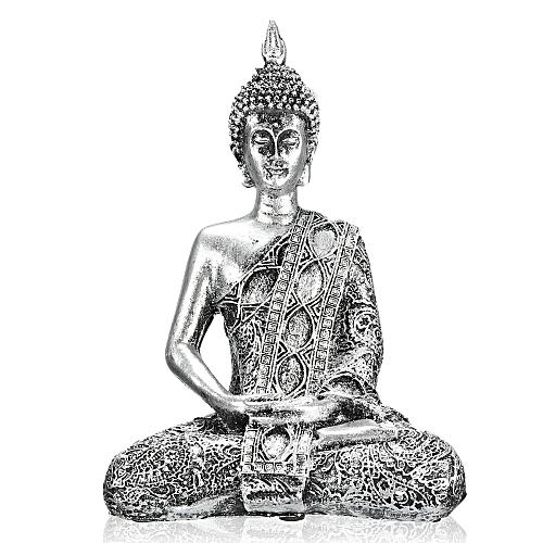 17cm Happy Buddha Sitting Meditation Small Figure Bodhisattva Decor Statue
