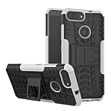 For Zenfone Max Plus M1 ZB570TL Case, 3 In 1 Tyre Grain Cobwebs Shock-proof Throw-proof Housing With Foldable Stand Holder TPU + PC Back Cover Case For ASUS ZenFone Max Plus (M1) ZB570TL