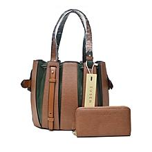 Susen Stylish Tradewool Leather Handbag Black
