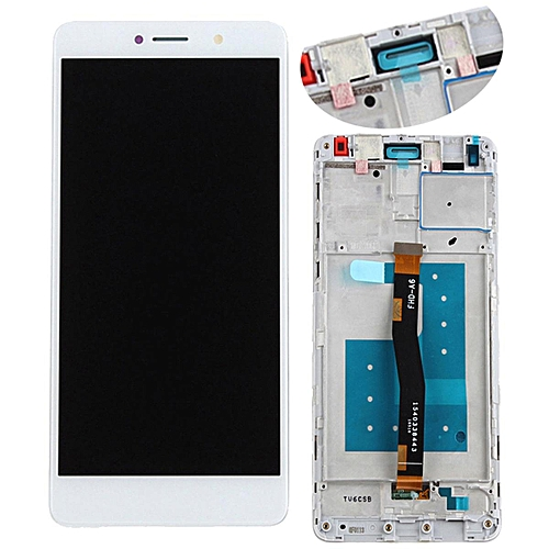 For Huawei Honor 6X LCD Display Touch Screen Digitizer Replaced With Frame #66 White