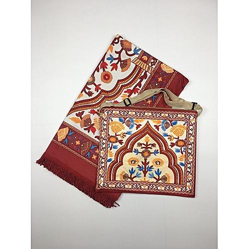 Muslim Prayer Mat With Bag For Travel Bag Prayer Mat ,Islam Prayer Rug With Bag Sets HGP-007 3D Print