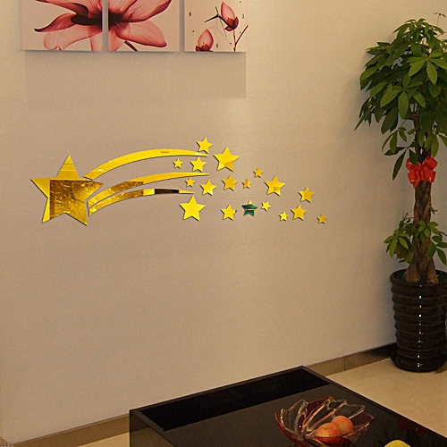 Jummoon Shop Modern Mirror Style Removable Decal Art Mural Wall Sticker Home Room DIY GD