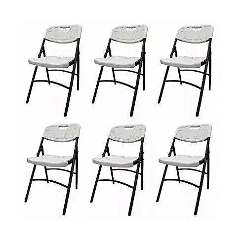Plastic Folding Chair 6sets - White