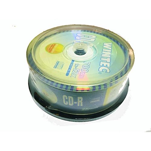 WINTEC CD-R CAKE BOX 1X25