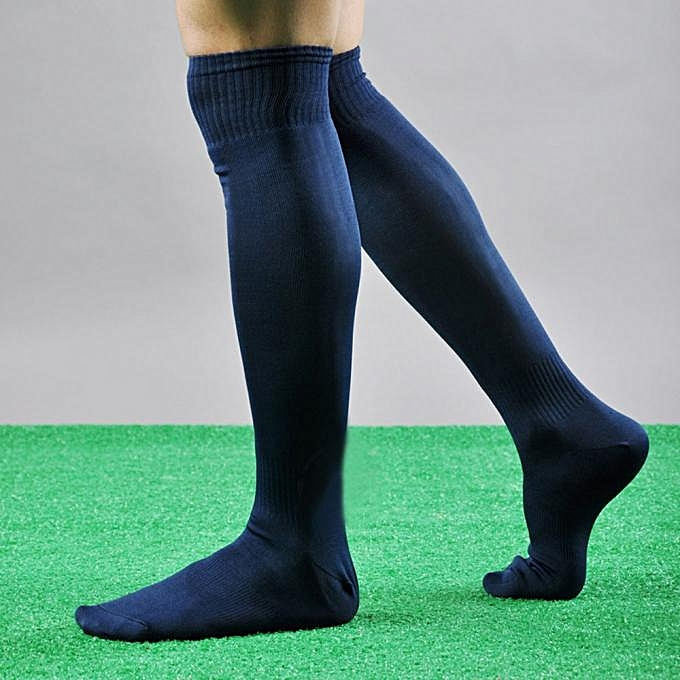 Fohting Men Sport Football Soccer Long Socks Over Knee High Sock Baseball Hockey DB -Dark ...