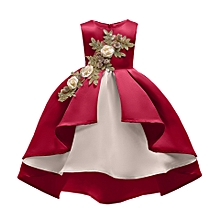 010f92263f Girl Kids Ruffles Embroidery Lace Party Wedding Dancing Dinner Dresses  Fashion Children Dress Skirt Girls Princess