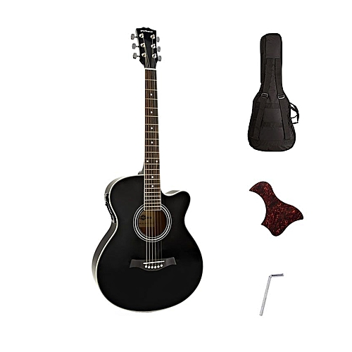 Pro Electro Acoustic Semi Electric Guitar - Black