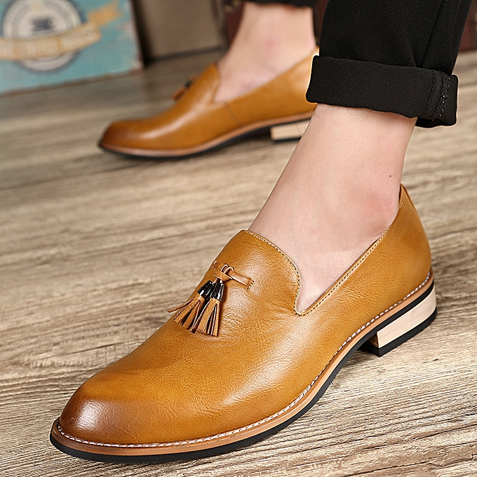 83765dcf344 Genuine Leather Men Formal Shoes British Style Loafers Slip-On High Quality Fashion  Men Leather
