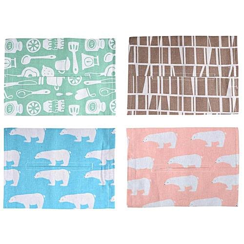 Cotton Linen Washable Reusable Tissue Box Napkin Bag Holder For Car Household