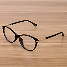 82d6a1767f30 Retro Eyeglasses Optical Frames Clear Lens Glasses Black Transparent Oval  Cat Eye Glasses Eyewear Frames Spectacle