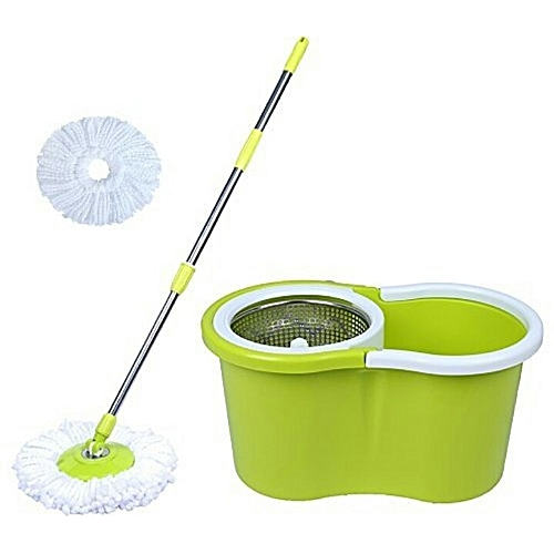 Stainless Steel Spin Mop And Bucket - 360 Degrees