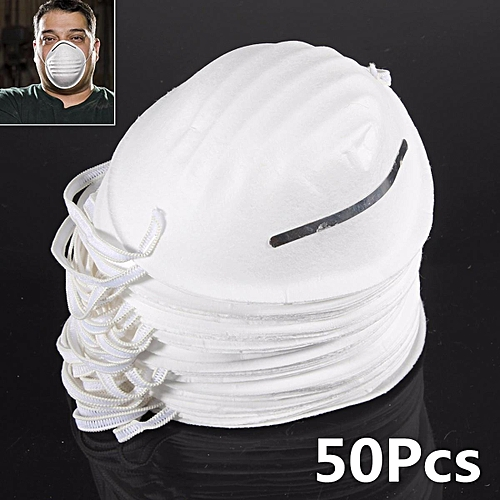 50 X Dust Mask Disposable Cleaning Molded Face Masks Respirator Safety Clean
