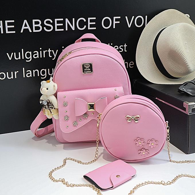 605bd193ea8 Pu Leather Set Backpack Woman Bag Sweet Lady Backpacker Sewing Soft Noodle  Bag Luxury Handbags Women Bags Designer Purse Handbag Fanny Pack Backpack  ...