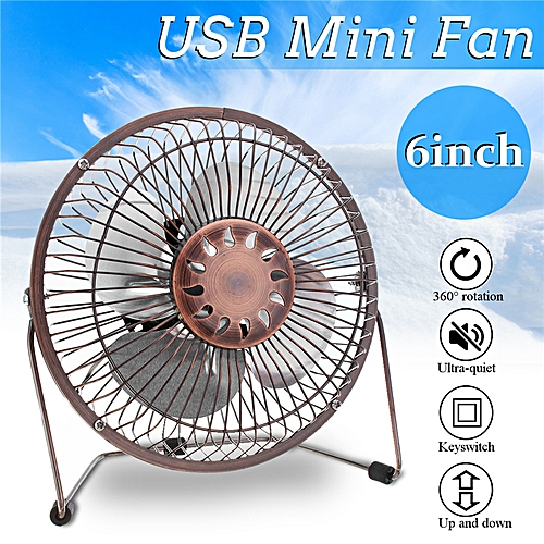 3W Solar Panel 6''USB Desk Outdoor Cooling Fan Camping Travel Hiking Ventilation