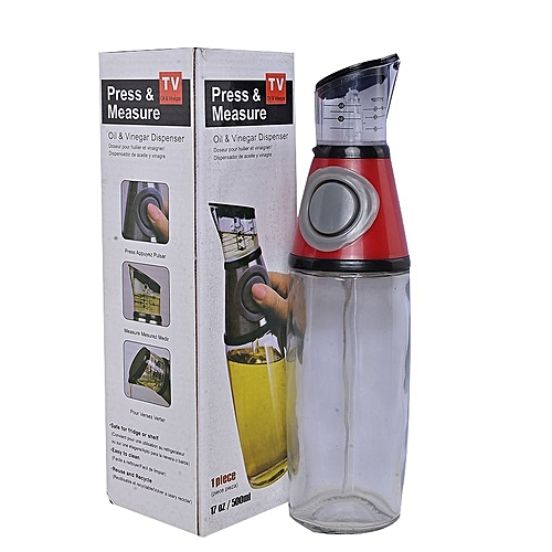 500ML Press And Measure Oil And Vinegar DIspenser