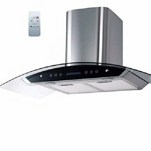 Digital Cooker Hood With Vent + Non Vent Black - 90cm (CHARCOL FILTER) REMOTE CONTROLLED