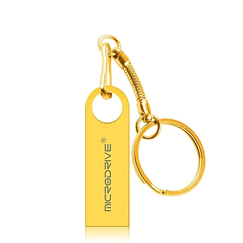 MicroDrive 64GB USB 2.0 Metal Waterproof High Speed U Disk(Gold)