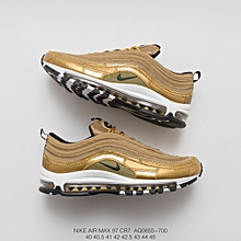 "0981e90d3a3eb2 2018 Air Max 97 CR7 ""Golden Patchwork"" Cristiano Ronaldo AQ0655-700 Unisex  Sneaker"