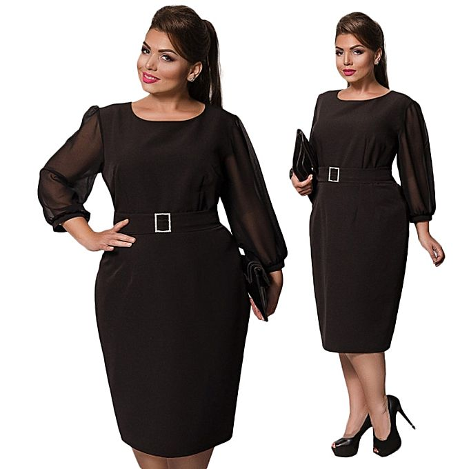 Large Size Dresses For Ol Las Business Office Wear To Work Elegant Pice Hip Bodycon