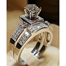 371cb6fb1d418f Simulation New Diamond Hearts And Arrows Rings Women Fashion Engagement Ring
