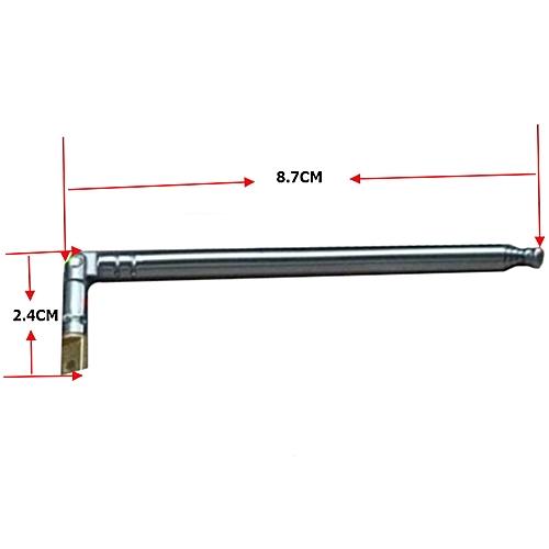 MP3/FM Radio Pull Rod Antenna Refit 360 Degree Adjustable DIY Parts Accessories More Convenient Installation MD014