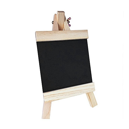 Blackboard 24*13cm Wooden Message Board With Adjustable Wooden Stand Durable