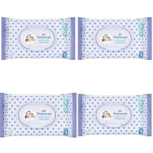 Little Angels Fragranced Cotton Soft Baby Wipes, X 4 (Total 256 Count)