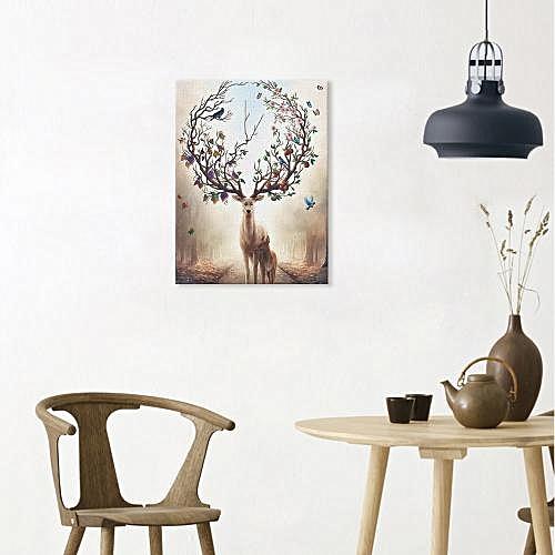 ModernWapiti Canvas Artwork Wall Unframed Home Decoration Print - Colormix
