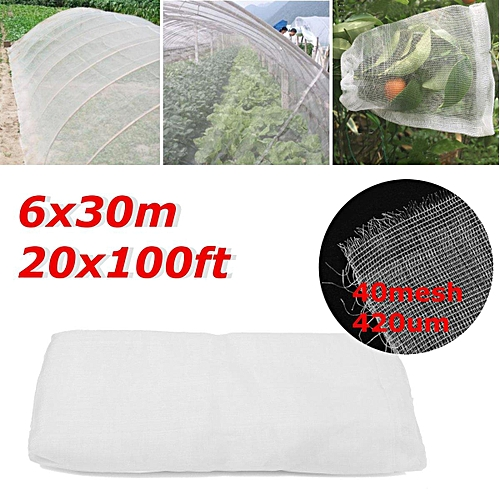 20Ft X 100Ft Mosquito Garden Bug Insect Netting Insect Barrier Bird Hunting Net