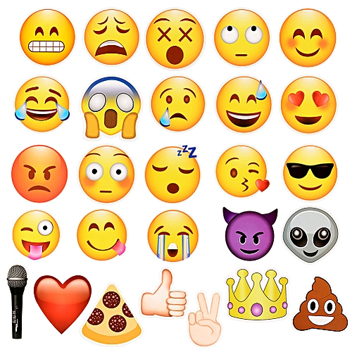 27pcs Emoji Photo Booth Props Party Supplies, Birthday Gift Photobooth Decor, Kids Funny Mask For Wedding Favors Holiday Baby Shower