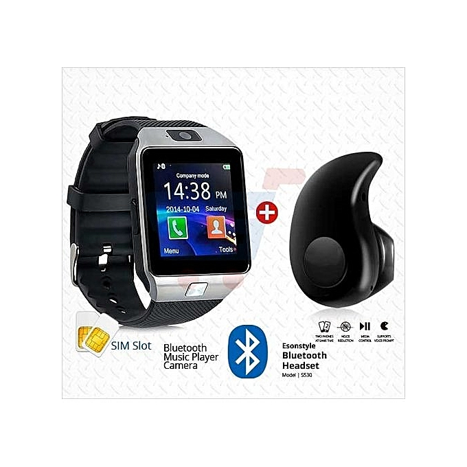 973250412d7 DZ09 Smart Wrist Phone Watch (Camera, SIM & Memory Card Space) + Free