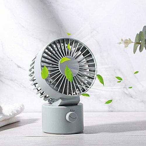 1Pc Portable Mini Desktop USB Fan Wind Adjustable Quiet For Home Office