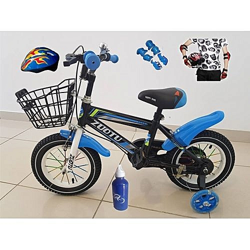 Kids Bicycle With Helmet & Protection Kits '12' - Ages 2-6