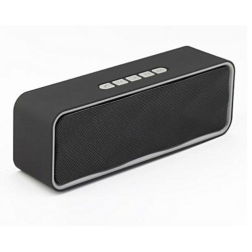 Bluetooth Speaker With MegaBass! Great Sound! For Mobile Phones, Ipads, & Computer A2DP-Support TF Card USB Built In MIC Audio Receive- Grey