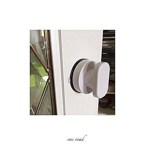 Honana Bathroom Anti Slip Powerful Suction Cup Wall Mounted Mirror Grass Door Grab Bar Safe Handle