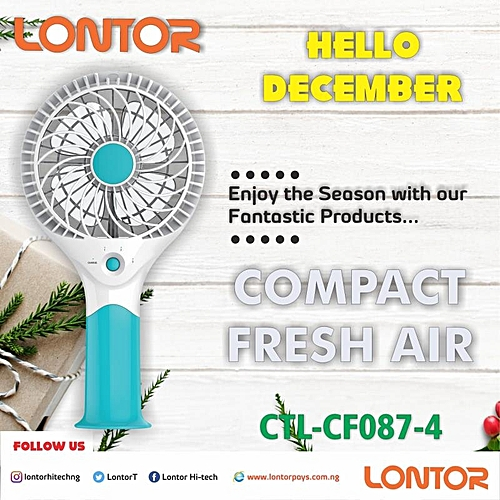 """4"""" Rechargeable Mini Fan With Lithum Battery"""
