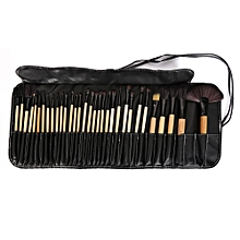 Chic 32 Pcs Makeup Brush Set Cosmetic Tools With Faux Leather Pure Color Bag