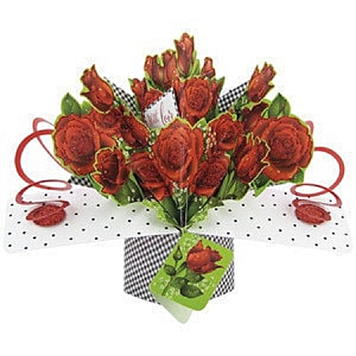 Special Roses Pop Up Valentine Card