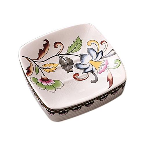 Ceramics Drain Soap Box Holder Bathroom Accessories