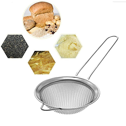 STAINLESS STEEL TEA STRAINER WIRE MESH CLASSIC TRADITIONAL FILTER SIEVE SPOON