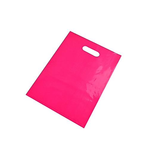 100pcs Rose Custom Plastic Bag Gift Packaging/shopping Bag/ Handle Plastic Bag