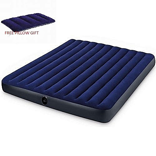 Inflatable Bed Mattress With Pump- 2 Persons (pillow Gift)