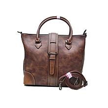 Susen Classic Pure Leather Handbag Brown