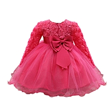 a389bd09d8d16 Flower Baby Girl Princess Bridesmaid Pageant Gown Birthday Party Wedding  Dress Musiccool